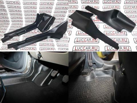 Комплект накладок на ковролин Renault Logan 2 | Sandero 2 (передние+задние)