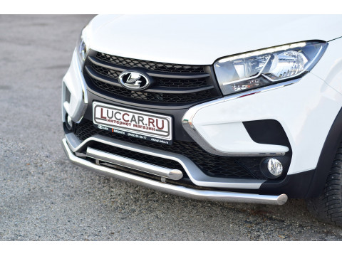 Защита переднего бампера двойная труба 51мм (НПС) Lada Xray Cross