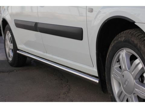Защита порогов прямая (НПС) труба диаметром 51 мм Lada Largus 2012- / (Cross 2012-)